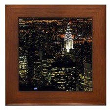 Chrysler Building at night, New York C Framed Tile