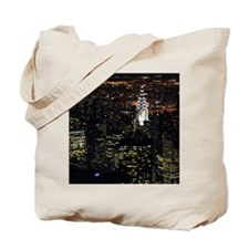 Chrysler Building at night, New York City Tote Bag