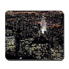 Chrysler Building at night, New York Cit Mousepad