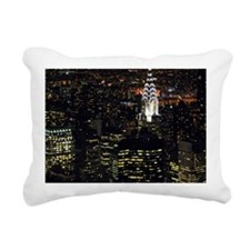 Chrysler Building at nig Rectangular Canvas Pillow