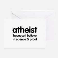 Atheist - Science & Proof Greeting Cards (Package