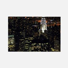 Chrysler Building at night, New Y Rectangle Magnet