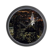 Chrysler Building at night, New York Ci Wall Clock