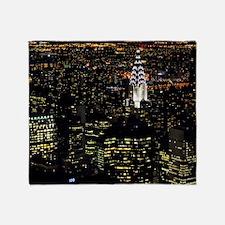 Chrysler Building at night, New York Throw Blanket