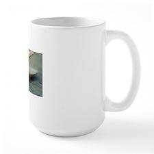 Clam shell on beach. Mug