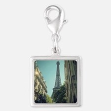 Eiffel Tower taken from diffe Silver Square Charm