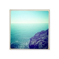 "Cliff of mountain and Medit Square Sticker 3"" x 3"""