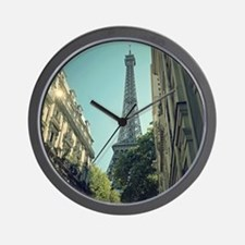 Eiffel Tower taken from different angle Wall Clock