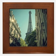 Eiffel Tower taken from different angl Framed Tile