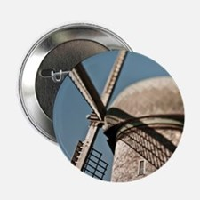 "close up of a Dutch windmill. 2.25"" Button"