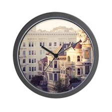 Famous 'painted ladies' of Alamo Square Wall Clock