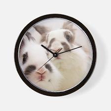 Close up of Rabbits Wall Clock
