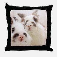 Close up of Rabbits Throw Pillow