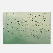 Flying flock of birds in  Postcards (Package of 8)