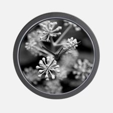 Close-up of small white flowers Wall Clock