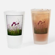 Cosmos flowers nature field pink gr Drinking Glass