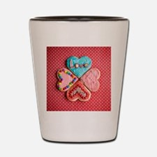 Four brightly decorated heart-shaped bu Shot Glass