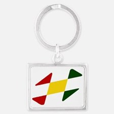 Rastafarian Colors Landscape Keychain