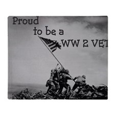 Proud to be a WW 2 Vet Throw Blanket
