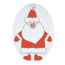Santa Claus Oval Ornament
