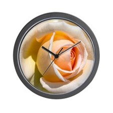 Detail of pale rose. Wall Clock