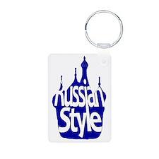 Russian Style Aluminum Photo Keychain