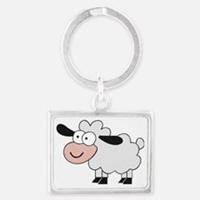 Sheep Landscape Keychain
