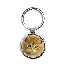 KITTY CAT Round Keychain