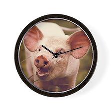 Happy little piglet. Wall Clock