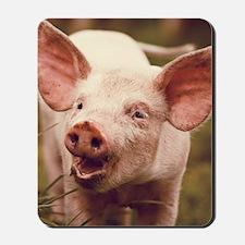 Happy little piglet. Mousepad