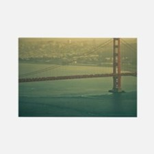 Golden Gate bridge at sunset in S Rectangle Magnet