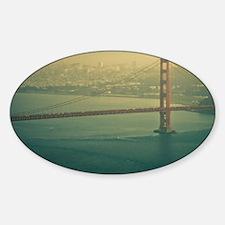 Golden Gate bridge at sunset in San Decal