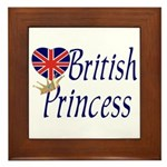 British Princess Framed Tile