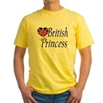 British Princess Yellow T-Shirt