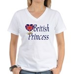 British Princess Women's V-Neck T-Shirt