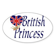 British Princess Oval Decal