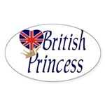 British Princess Oval Sticker