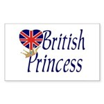 British Princess Rectangle Sticker