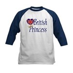 British Princess Kids Baseball Jersey