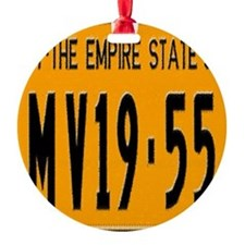 1955 New York License Plate Ornament