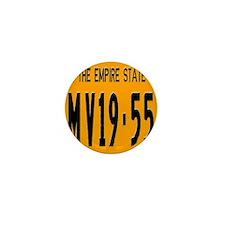 1955 New York License Plate Mini Button