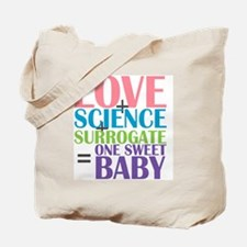 Love, Science,  a Surrogate Tote Bag