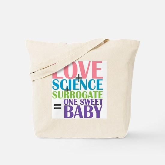 Love, Science,  a Surrogate Tote Bag