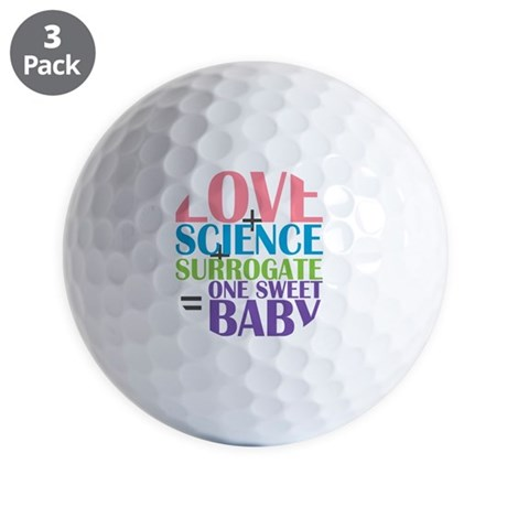Love, Science, a Surrogate Golf Balls