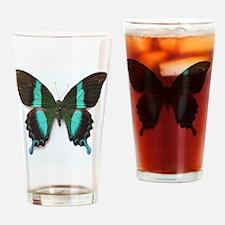 Emerald Swallowtail Butterfly Drinking Glass