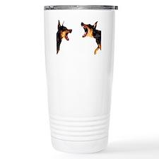 Dobermans barking at ea Travel Mug
