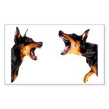 Dobermans barking at each othe Decal