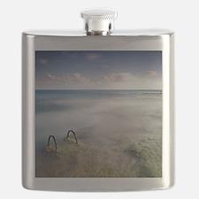 Fogging landscape, Torrevieja. Flask