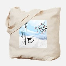 Illustration of a winter image of a tree  Tote Bag
