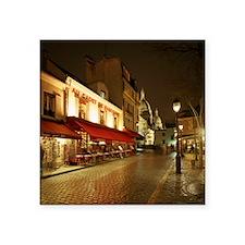 """France, Paris, Montmartre Square Sticker 3"""" x 3"""""""